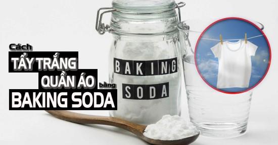 Tác dụng của Baking Soda tẩy trắng quần áo